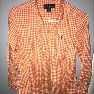 Boys Medium (10-12) Ralph Lauren bottom down shirt